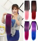 Long Straight Ombre Ponytail Clip-in Wrap On Hair Extensions Hairpiece Woman C2
