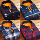 Stylish Men's Padded Shirt Fleece Lined Winter Warm Thick Casual Shirt Plaid Top