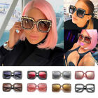 Oversized Square Frame Bling Rhinestone Sunglasses Women Fashion Shades 2018 BKB