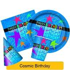 COSMIC BIRTHDAY Party (Tableware, Balloons and Decorations) (1C)