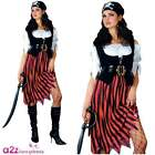 Pirate Lady Fancy Dress Party Ladies Costume Adult Outfit (UK Sizes 6-28)