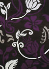 Purple Modern Machine Made Circles Leaves Petals Area Rug Floral 580-10382