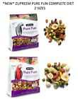 *NEW* 2LB ZUPREEM PURE FUN PREMIUM BLEND PARROT FOOD CONURE MACAW COMPLETE CAGE