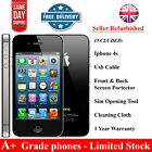 Apple iPhone 4s 8GB 16GB 32GB  - Black (Unlocked) Smartphone - Grade A+ - U.K <br/> 12 Months Warranty- Grade A+ - Limited U.K Stock