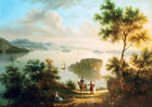 """AMERICAN SCHOOL """"Hudson River"""" america CANVAS ART! choose your SIZE, from 55cm"""