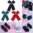 Modern Fashion Bowknot Brooch Elegant Lady Girl Alloy Crystal Brooch Pin Gifts