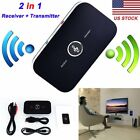 2 in1 Wireless Bluetooth Transmitter + Receiver Home TV Stereo Audio Adapter New