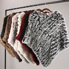 winter fashion for ladies - Fashion Real Rabbit Fur Knitted Poncho For Lady Women Winter Shaws cape Topper