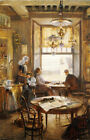 "LIEVEN HERREMANS ""In Cafe"" portrait CANVAS OR PAPER various SIZES available, NEW"