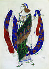 """LEON BAKST """"Costume Design for Cleopatra"""" new CANVAS! various SIZES, BRAND NEW"""