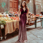 Ever-Pretty US V-neck Cocktail Dress Evening Sequins Mermaid Bodycon Gowns 07767