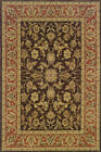 Black Traditional - Persian/Oriental Flowers Vines Leaves Area Rug Floral 042A2