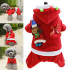 Pet Puppy Dog Cat Santa Claus Christmas Coat Xmas Costume Outfit Clothes Apparel