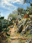 PEDER MORK MONSTED At Noon on a Cactus Plantation in Capri woman HEAT sky NEW!