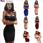 US Women Bandage Bodycon Sleeveless Evening Party Cocktail Club Short Mini Dress