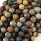 "Natural Ocean Jasper Round Beads Gemstone 15.5"" Strand S2 4mm 6mm 8mm 10mm 12mm"