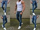 HERREN BASIC STYLE YOUNG SKINNY DARKBLUE STONEDWASHED SKINNY FIT JEANS HOSE