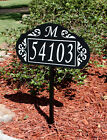 Le Paris Garden Address Sign - Available With Monogram Or Bird In White Or Gold