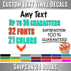 Custom Text Lettering Vinyl Decal Your Personalized Name Wall Window Car Sticker