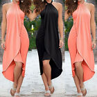 Women Summer Boho Chiffon Party Beach Dresses Long Maxi Dres