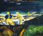 George Wesley Bellows Tending Lobster Traps, Early Morning fishermen ON CANVAS