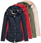 Only Damen Parka Kate Übergangsjacke Frauen kurz Mantel Jacket Kapuze casual