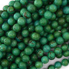 "Green Turquoise Round Beads Gemstone 15.5"" Strand 4mm 6mm 8mm 10mm 12mm"