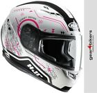 HJC CS-15 Safa White Pink Motorcycle Helmet Ladies Lady Scooter CS15 CS 15