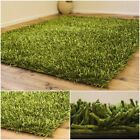 NEW SPARKLE PREMIUM LIME GREEN 5CM THICK CLEARANCE RUG BEST QUALITY SHAGGY RUG