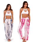 Ladies South Beach Trousers Wide Leg Viscose Tie Dye Palazzo pants womens Boho