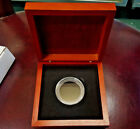 """5"""" LARGE SOLID DARK WOOD box for coins with/without AIR-TITE CAPSULES foam rings"""