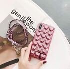 New iPhone Electroplated Silicon Bling 3D Heart Case Cover For iPhone 6 7 8 X
