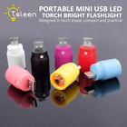 Super Bright Mini USB LED Spotlight Torch Flashlight With Switch Multiple Colors