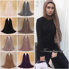 20 colors Pearl Cotton Blend Viscose Maxi Crinkle Hijab Scarf Muslim 70x40 inch