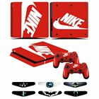 Sony PS4 Slim Console Sticker Decal + Vinyl Controller Skin Cover w/Light Bar