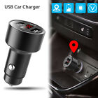 locator on iphone - Car GPS Tracker Locator Real Time Tracking Device Dual USB Car Charger Voltmeter
