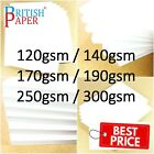 A2 A3 A4 A5 A6 WHITE CARD THICK PAPER CARDBOARD PRINTER COPIER SHEETS GSM CRAFT