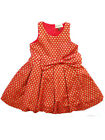 NWT Sophie Catalou Honeycomb Red And Gold Girls Party Dress Sizes 5, 6, 7-8