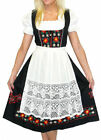 Dirndl Oktoberfest German LONG Swing Dress EMBROIDERED .. 3 Pieces COMPLETE SET