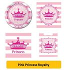 PINK PRINCESS ROYALTY Birthday Party Range - Tableware & Decorations {Cp} (1C)