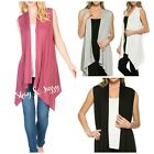FLIRTY & SOFT JERSEY KNIT CARDIGAN VEST TOP ~ SMALL, MEDIUM, LARGE OR XL