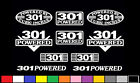 10 DECAL SET 301 CI V8 POWERED ENGINE STICKERS EMBLEMS PMD VINYL DECALS
