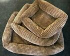 LUXURY HIGH QUALITY DOG PET BED 3 SIZES - BROWN