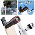 12x Optical Zoom Clip on Camera Lens Phone Telescope For Universal Cell Phone BK