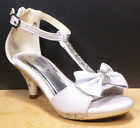 Baby & Toddler Pageant Dress Platforms Sandals Size 12 WHITE