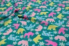 Double Sided Supersoft Cuddlesoft Fleece Fabric Material - POLAR BEAR TEAL