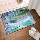 """Goldfish and Water Lilies In Waterfall Image Bathroom Fabric Shower Curtain 71"""""""
