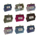 Ladies Harris Tweed Clasp Coin Purse Available In 7 Colours LB2035