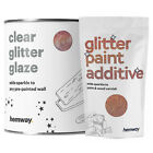 Hemway Clear Glitter Paint Glaze Rose Gold Holographic Painted Walls Wallpaper