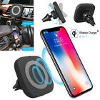 Qi Wireless Car Air Vent Magnetic Phone Charger Stand Mount Holder For Iphone X